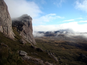 Mist over Peak Boby, Madagascar
